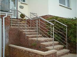 exterior handrails for concrete steps. interesting outdoor stair railings handrails for concrete steps silver outside and plant exterior c