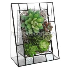 Angled Display Stand High Quality Chic Triangular Shape Glass Succulent Planter Box 60