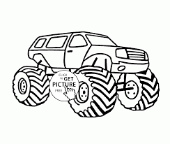 Cool Transportation Monster Truck Coloring Page