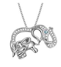 925 sterling silver lucky jewelry cz elephant vintage pendant necklace box chain 18 color 05 co186n9oyzg