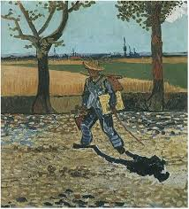image only van gogh painter on his way to work the