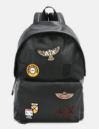armani exchange faux leather patch backpack backpack for men a x