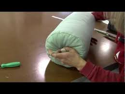 How To Make A Neck Roll Pillow Cover