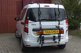 Bike rack for Dacia Dokker, Paulchen Heckträger System - Paulchen ...