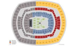 Wrestlemania Seating Chart Metlife Metlife Stadium E Rutherford Nj Seating Chart View