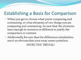 from patterns for college writing what is it compare means to establishing a basis for comparison when you get to choose what you re comparing and