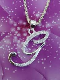 necklace with letter g pendant