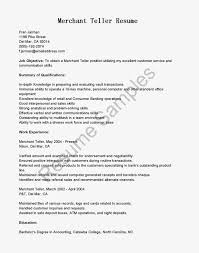 Resume Letter For Bank Job Resume Examples For A Bank Teller Teller