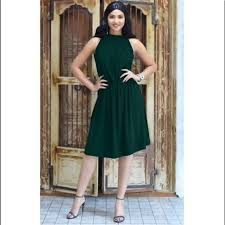 Koh Koh Emeral Green Halter Flowy Dress Size S Nwt