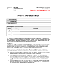 transition plan examples 40 transition plan templates career individual template lab