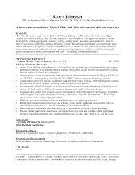 Technical Writer Resume Free Resume Templates 2018