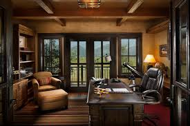 rustic office design. Montana Family Compound Rustic-home-office Rustic Office Design I