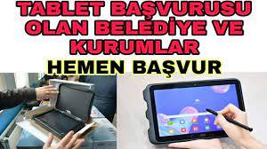 Bedava Tablet Ve Bilgisayar Dağıtan Kurumlar Ve Belediyeler Hangileri  Ücretsiz Tablet Başvurusu - YouTube