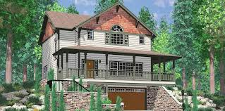 sloping lot house plans with basement fresh house plans walkout basement wrap around porch plan wg
