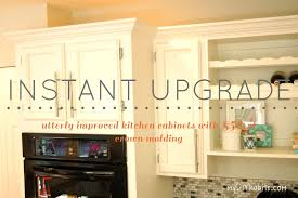 Kitchen Cabinets Crown Molding Adding Crown Molding To Kitchen Cabinet Doors