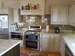 antique white wooden kitchen cabinets with stainless steel