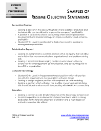 ... Simple Resume Objective Statements 4 Statement Examples Cv Cover Letter  20 ...