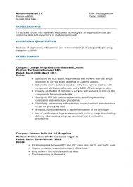 Sample Resume For Electronics Technician Electronic Technician Resume Template Sample Resume Resume
