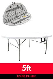 elegant plastic folding tables for outdoor table design idea white round plastic folding tables for