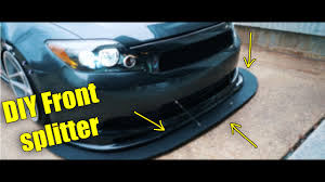DIY how to make a <b>front splitter</b> - YouTube