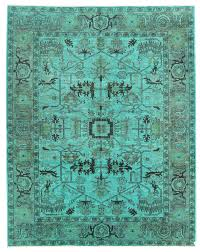 overdyed and patchwork rug gallery teal overdyed rug hand knotted in stan