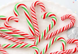 Fake Candy Canes 47mm Super Cute Candy Cane Faux Candy Cabochons