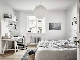 white bedroom desk furniture. Neutral Bedroom With A White Desk And Black Chair For Contrast Furniture B