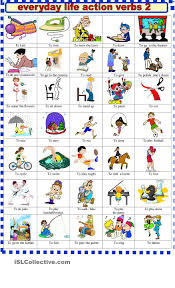 everyday life action verbs verbs vocabulary everyday life action verbs 2