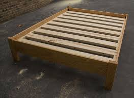 AMBROSIA MAPLE SIMPLE Platform Bed Frame, Custom Made of Solid ...