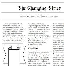 Classroom Newspaper Template Google Newspaper Template