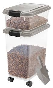 Pet Supplies : IRIS USA, Inc. 3- Piece Airtight Food Storage Container Combo, Chrome Products Amazon.com