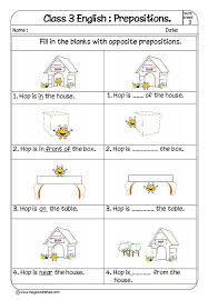 Preposition Chart For Kids Prepositions For Kids Prepositions Exercises