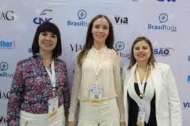 Jeannette Gilbert (WTM) visita Abav Expo » Brasilturis Jornal