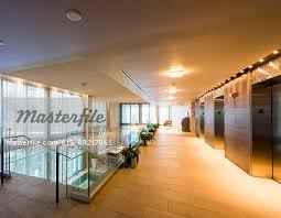 modern interior office stock. Hallway And Staircase In Empty Modern Office - Stock Photo Interior