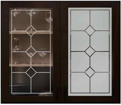 Faux Leaded 04 Cabinet Glass 1 Stage Solid Etch Positive Negative