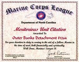 outer banks detachment news meritorious unit citation