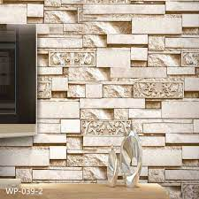 Brick 3D Stone Wallpaper Roll PVC Vinyl ...