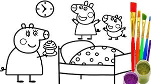 Small Picture How to Draw Peppa Pig Cup Cake Coloring Pages Teach Kid Drawing