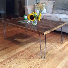 DIY Pallet Coffee Table With Metal Hairpin Legs  101 PalletsPallet Coffee Table With Hairpin Legs