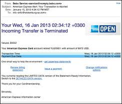 Eclectic Express American An Mind Message Email Transfer Scam