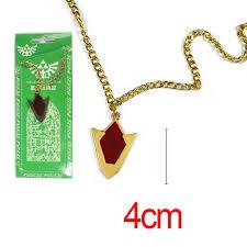 game the legend of zelda red kokiri spiritual stone metal alloy necklace