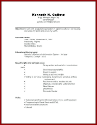 College Student Resume Examples No Experience Resume Template No Experience 2019 Lebenslauf Vorlagen