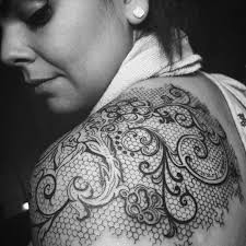 Pattern Tattoos Custom 48 Cute Lace Tattoo Designs You Have Never Been So Pretty Before