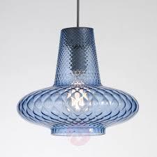 Blue Glass Pendant Light Fixture Exciting Blue Blown Glass Pendant Lights Waterfall Light