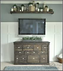 gorgeous pottery style ikea media shelf makeover around the with corner tv wall mount large desk