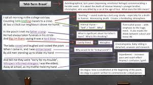 seamus heaney mid term break annotation