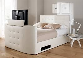 tv bed with storage. Unique Bed Atlantis Leather Ottoman TV Bed  White Beds Storage On Tv With D