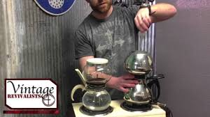 The pot is complete and in perfect working order. The Vintage Revivalists Ep1 Vintage Vacuum Coffee Makers Hill Shaw Cory Pyrex Flameware Youtube