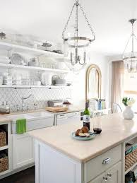 white cottage kitchens. All-White Kitchen With Island White Cottage Kitchens