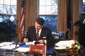 Filethe reagan library oval office Desk Hard At Work Reagan Working On An Economic Report In The Oval Office Daily Mail Ronald Reagans Son Michael Says His Father Wouldnt Have Voted For